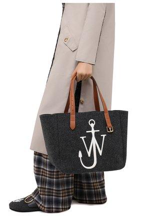 Женский сумка-тоут belt J.W. ANDERSON темно-серого цвета, арт. HB0243 FA0029 | Фото 2