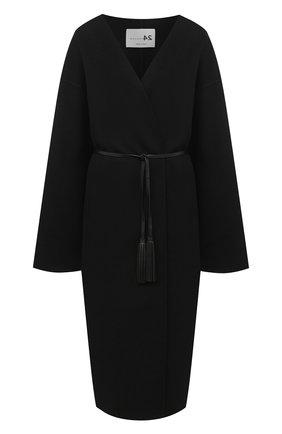 Женское пальто из шерсти и кашемира MANZONI24 черного цвета, арт. 20M742-DB1L8/48-52 | Фото 1