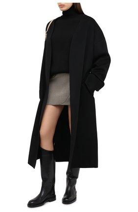 Женское пальто из шерсти и кашемира MANZONI24 черного цвета, арт. 20M742-DB1L8/48-52 | Фото 2
