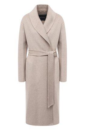Женское кашемировое пальто KITON бежевого цвета, арт. D50607DK05T53   Фото 1