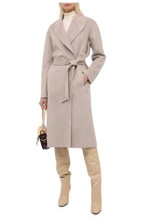 Женское кашемировое пальто KITON бежевого цвета, арт. D50607DK05T53   Фото 2