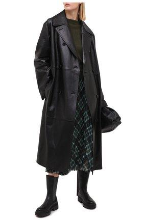 Женские кожаные ботинки BRUNELLO CUCINELLI черного цвета, арт. MZSLG1906 | Фото 2