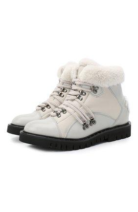 Женские кожаные ботинки LORENA ANTONIAZZI светло-серого цвета, арт. A2079SC015/428 | Фото 1