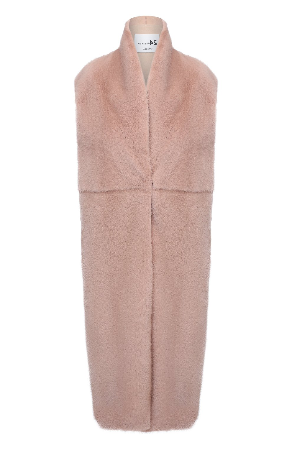Женский жилет из меха норки MANZONI24 светло-розового цвета, арт. 20M536-VDB1/38-46   Фото 1