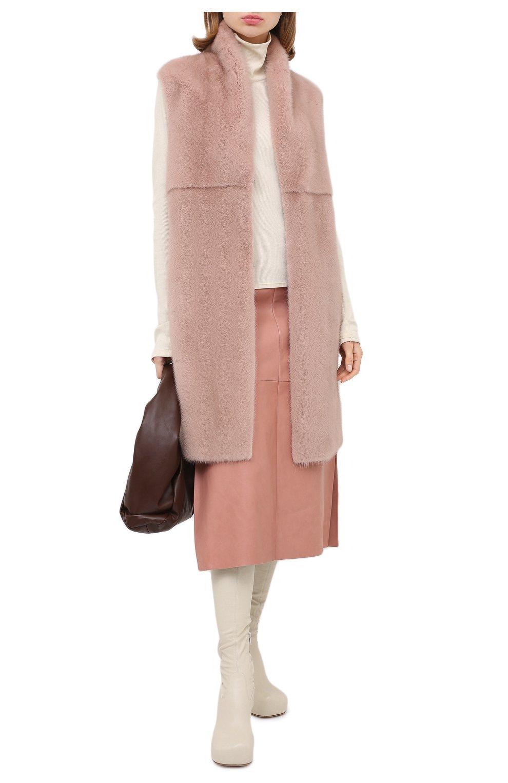 Женский жилет из меха норки MANZONI24 светло-розового цвета, арт. 20M536-VDB1/38-46   Фото 2