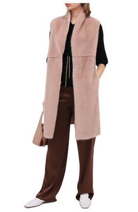 Женский жилет из меха норки MANZONI24 светло-розового цвета, арт. 20M536-VDB1/38-46   Фото 3