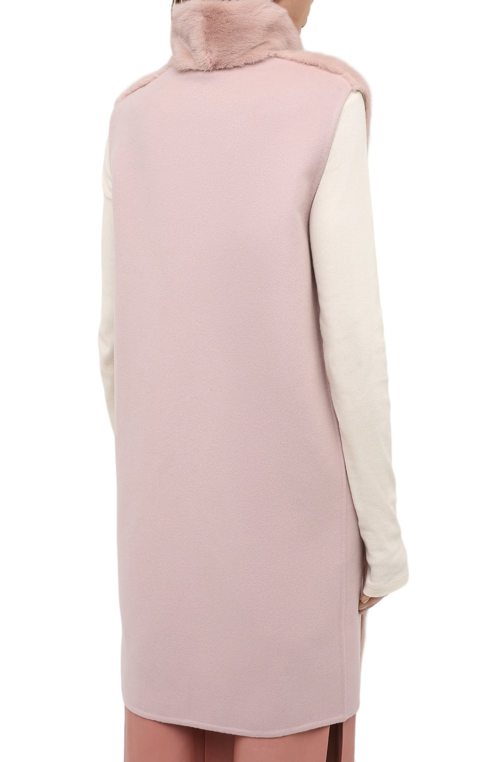 Женский жилет из меха норки MANZONI24 светло-розового цвета, арт. 20M536-VDB1/38-46   Фото 5