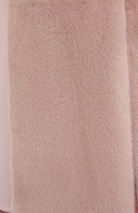 Женский жилет из меха норки MANZONI24 светло-розового цвета, арт. 20M536-VDB1/38-46   Фото 6