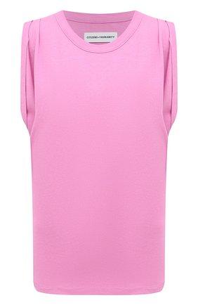 Женская хлопковая футболка CITIZENS OF HUMANITY розового цвета, арт. 9171-1208 | Фото 1