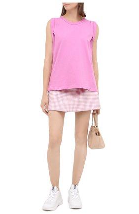 Женская хлопковая футболка CITIZENS OF HUMANITY розового цвета, арт. 9171-1208 | Фото 2