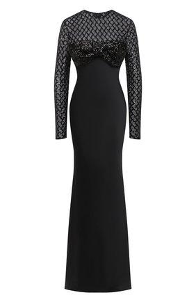 Женское платье-макси GIUSEPPE DI MORABITO черного цвета, арт. PF20055LD-101 | Фото 1