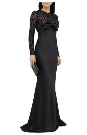 Женское платье-макси GIUSEPPE DI MORABITO черного цвета, арт. PF20055LD-101 | Фото 2