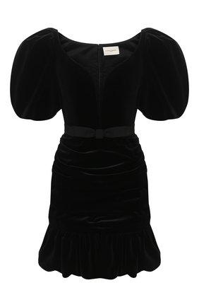 Женское бархатное платье GIUSEPPE DI MORABITO черного цвета, арт. PF20139DR-13 | Фото 1