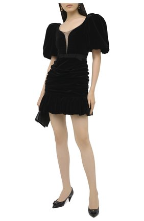 Женское бархатное платье GIUSEPPE DI MORABITO черного цвета, арт. PF20139DR-13 | Фото 2