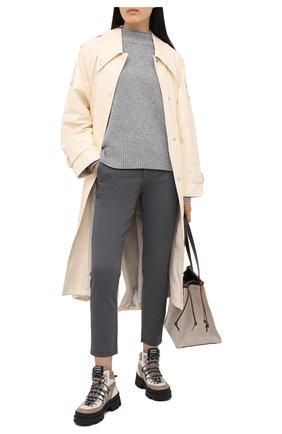 Женские хлопковые брюки AG серого цвета, арт. ART1613/SLFLKG | Фото 2