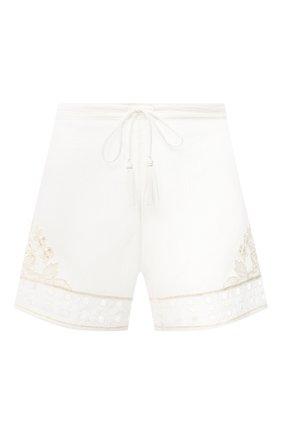 Женские хлопковые шорты LA PERLA белого цвета, арт. 0042530 | Фото 1