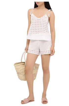 Женские хлопковые шорты LA PERLA белого цвета, арт. 0042530 | Фото 2