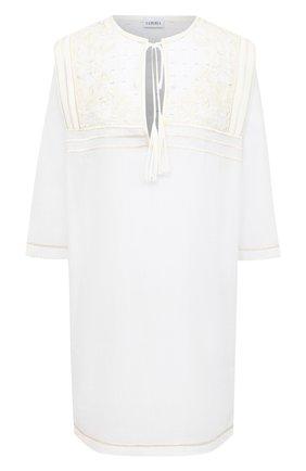 Женское хлопковое платье LA PERLA белого цвета, арт. 0052390 | Фото 1