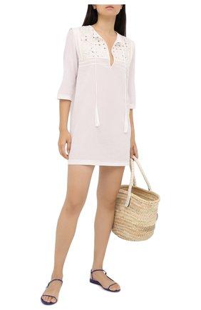 Женское хлопковое платье LA PERLA белого цвета, арт. 0052390 | Фото 2