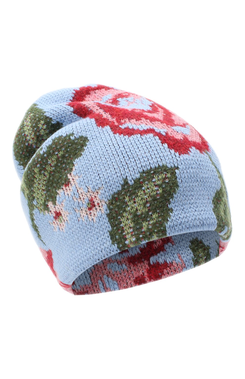 Женская шапка TAK.ORI голубого цвета, арт. HTK51042W0090AW20 | Фото 1 (Материал: Текстиль, Шерсть, Синтетический материал)