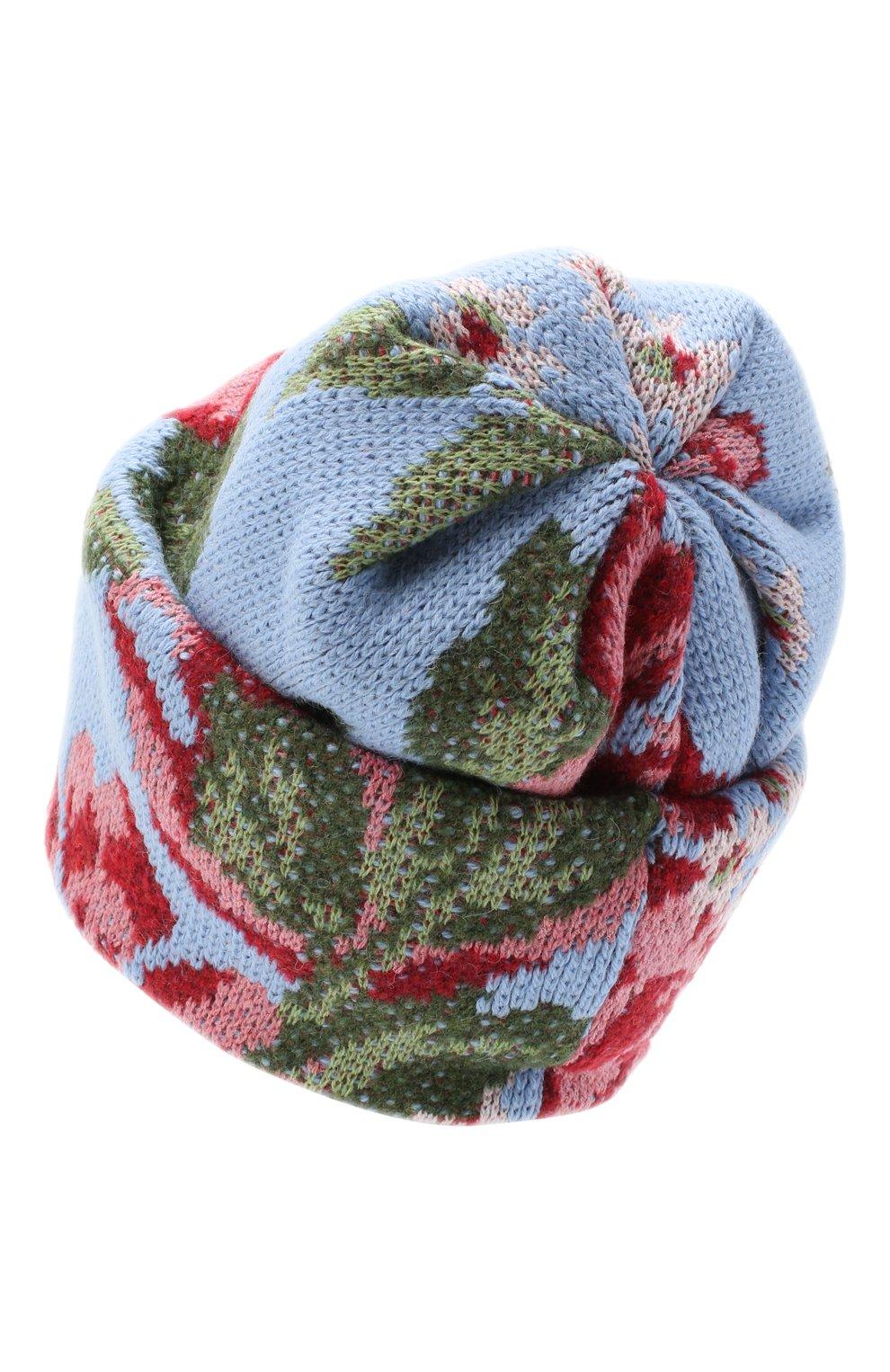 Женская шапка TAK.ORI голубого цвета, арт. HTK51042W0090AW20 | Фото 2 (Материал: Текстиль, Шерсть, Синтетический материал)