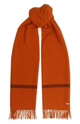 Женский кашемировый шарф twelve LORO PIANA оранжевого цвета, арт. FAF9173   Фото 1 (Материал: Кашемир, Шерсть; Принт: Без принта)