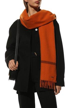Женский кашемировый шарф twelve LORO PIANA оранжевого цвета, арт. FAF9173   Фото 2 (Материал: Кашемир, Шерсть; Принт: Без принта)