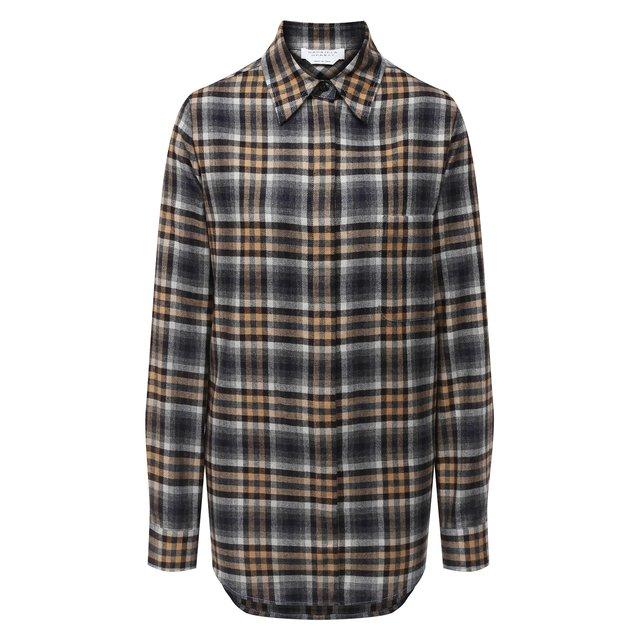 Рубашка из шерсти и шелка Gabriela Hearst