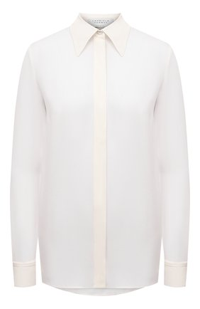Женская шелковая рубашка GABRIELA HEARST белого цвета, арт. 420117 S032   Фото 1