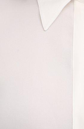 Женская шелковая рубашка GABRIELA HEARST белого цвета, арт. 420117 S032   Фото 5 (Материал внешний: Шелк; Рукава: Длинные; Принт: Без принта; Женское Кросс-КТ: Рубашка-одежда; Длина (для топов): Стандартные)
