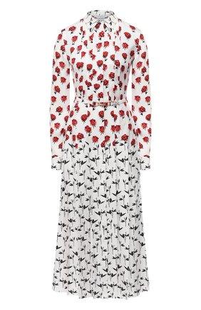 Женское шелковое платье GABRIELA HEARST белого цвета, арт. 420432 P023   Фото 1