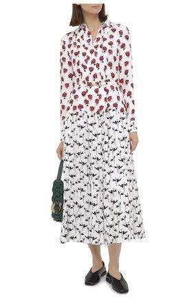 Женское шелковое платье GABRIELA HEARST белого цвета, арт. 420432 P023   Фото 2