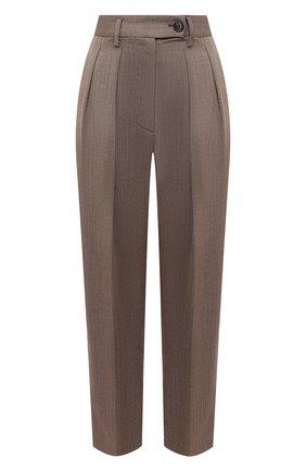 Женские шерстяные брюки TELA коричневого цвета, арт. 14 7972 01 0116 | Фото 1
