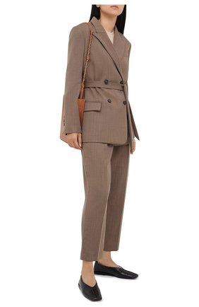 Женские шерстяные брюки TELA коричневого цвета, арт. 14 7972 01 0116 | Фото 2