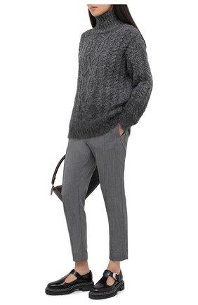 Женские шерстяные брюки TELA серого цвета, арт. 14 7985 01 0116 | Фото 2