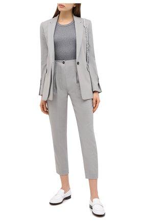 Женские шерстяные брюки TELA серого цвета, арт. 14 8006 01 0133 | Фото 2