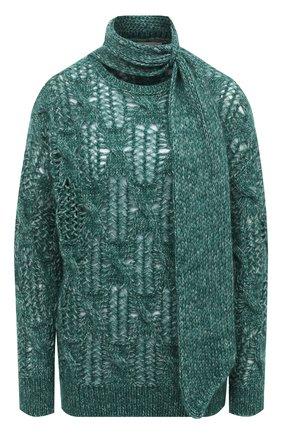 Женский шерстяной свитер TELA зеленого цвета, арт. B2 2374 07 T123 | Фото 1