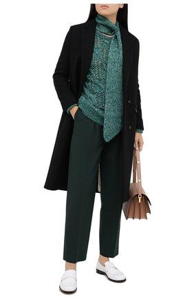 Женский шерстяной свитер TELA зеленого цвета, арт. B2 2374 07 T123 | Фото 2