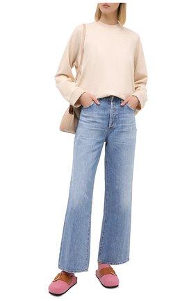 Женский кашемировый свитшот LORO PIANA светло-бежевого цвета, арт. FAL3284 | Фото 2