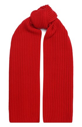Женский кашемировый шарф LORO PIANA красного цвета, арт. FAL4841 | Фото 1 (Материал: Шерсть, Кашемир; Принт: Без принта)
