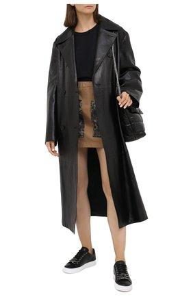 Женские кожаные кеды hexagon PHILIPP PLEIN черного цвета, арт. F20S WSC1942 PLE075N   Фото 2