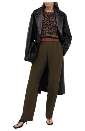 Женские брюки N21 хаки цвета, арт. 20I N2M0/B062/5336 | Фото 2