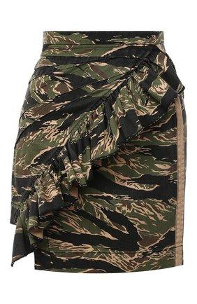 Женская хлопковая юбка N21 хаки цвета, арт. 20I N2M0/C122/0221 | Фото 1