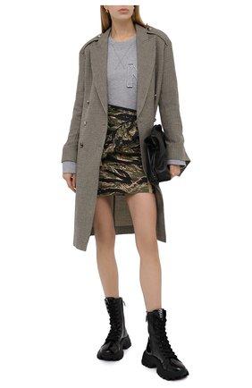 Женская хлопковая юбка N21 хаки цвета, арт. 20I N2M0/C122/0221 | Фото 2