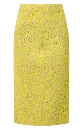 Женская хлопковая юбка N21 желтого цвета, арт. 20I N2M0/CC21/4123 | Фото 1
