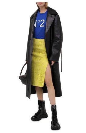Женская хлопковая юбка N21 желтого цвета, арт. 20I N2M0/CC21/4123 | Фото 2
