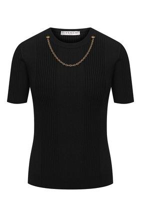 Женский пуловер из вискозы GIVENCHY черного цвета, арт. BW60Q54Z76   Фото 1