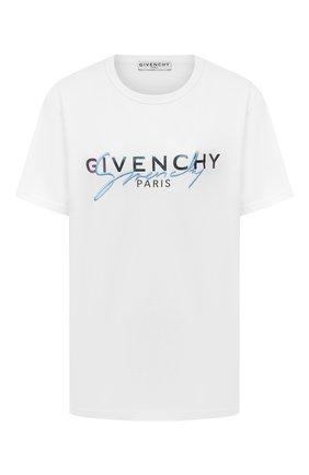 Женская хлопковая футболка GIVENCHY белого цвета, арт. BW707Z3Z3Q | Фото 1