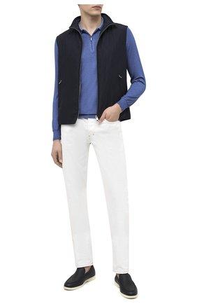 Мужское поло из кашемира и шелка ZILLI синего цвета, арт. MBU-PZ002-NUAG1/ML01   Фото 3