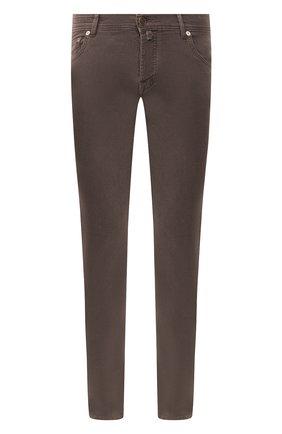 Мужские брюки из хлопка и кашемира KITON коричневого цвета, арт. UPNJSJ02T47 | Фото 1 (Материал внешний: Хлопок; Материал подклада: Купро; Длина (брюки, джинсы): Стандартные; Случай: Повседневный; Стили: Кэжуэл)